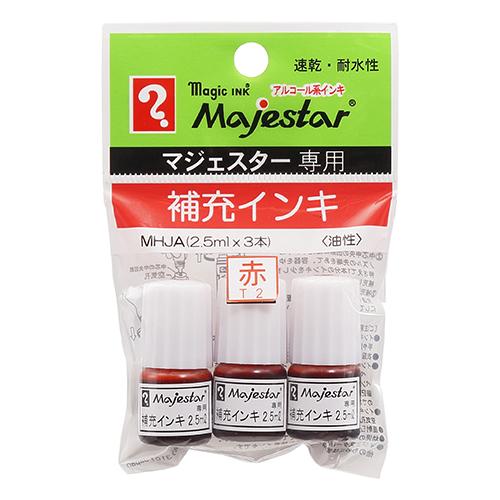 寺西化学工業 マジェスター補充インキ MHJAーT2 赤 10パック 30本 直送品