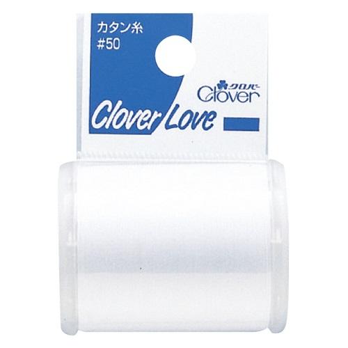 クローバー カタン糸#50白 500m巻