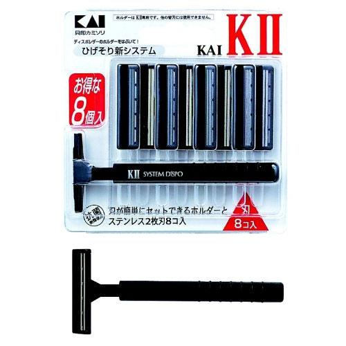 貝印 ひげそり用カミソリ KAI-KII 替刃8個付