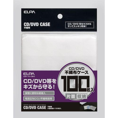 ELPA 不織布 片面*100枚 ホワイト CDF-101 WH 1パック