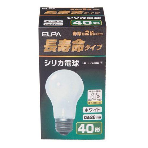 ELPA 長寿命タイプシリカ電球 LW100V38W‐W