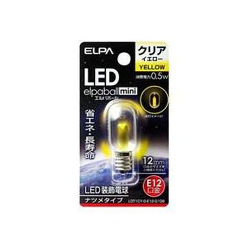 朝日電器 LED ナツメ球 E12/LDT1CYGE12G109