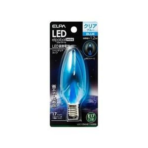 ELPA LED装飾電球 シャンデリア球タイプ 1.2W/LDC1CBGE17G329