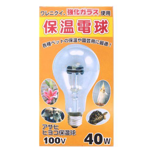 【クリックで詳細表示】ASAHIヒヨコ 保温 電球 100V40WPS80E26