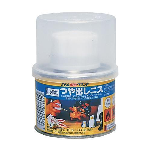 水溶性ハケ入りつや出しニス/ クリヤー 100ML
