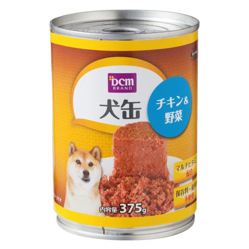 DCM 犬缶 全年齢用 375g チキン&野菜