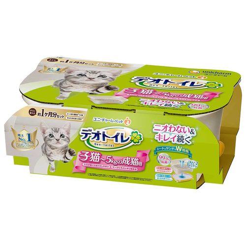 1週間消臭・抗菌デオトイレ 子猫から体重5kgの成猫用
