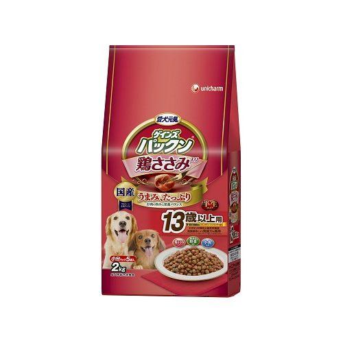 愛犬元気 パックン 鶏ささみ入り 13歳以上用 鶏ささみ・緑黄色野菜・小魚入り 2kg