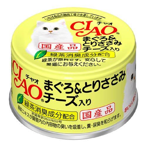 チャオ まぐろ&とりささみ チーズ入り 85g