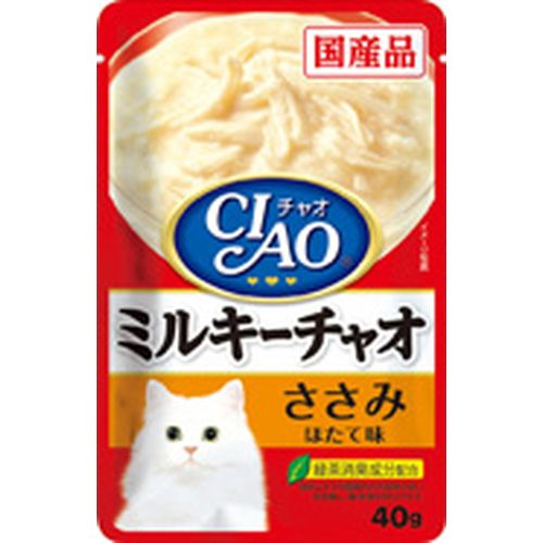 チャオ ミルキーチャオ ささみ ほたて味 40g