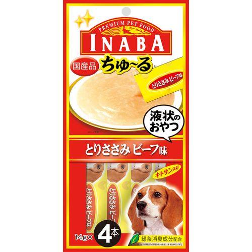 INABA ちゅ〜る とりささみ ビーフ味 14gx4本