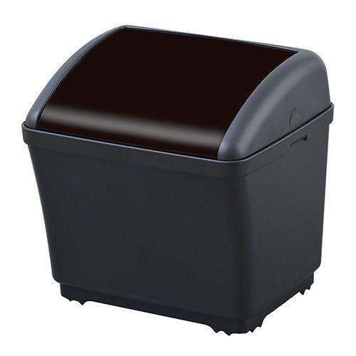 セイワ 車用 ゴミ箱 ダストボックス ワンプッシュ蓋 おもり付き W935