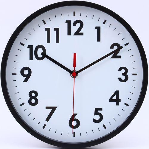 壁掛け時計 ミーナ/53587 ブラック