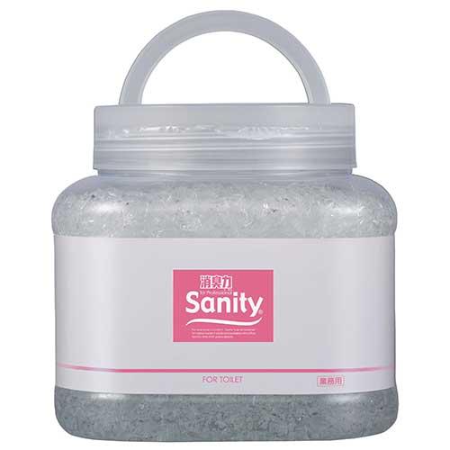 サニティー 業務用消臭剤 大型タイプ トイレ用 ホワイトフローラル 本体 1.7kg