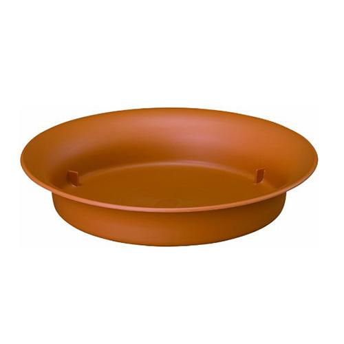 鉢皿ノア 4号 φ120×H25 ブラウン