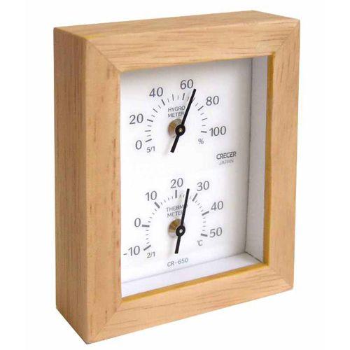 クレセル 温度計 湿度計 CR-650W 1コ入