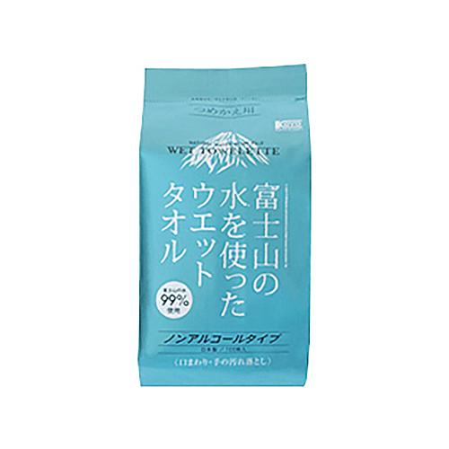 コーヨー化成 富士山の水99%ウェットタオル詰替え 123X180mm100マイ