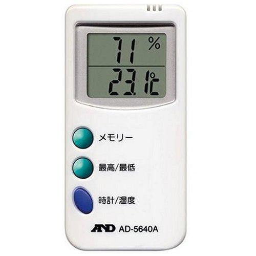 【クリックで詳細表示】A&D時計付デジタル温湿度計 AD-5640A