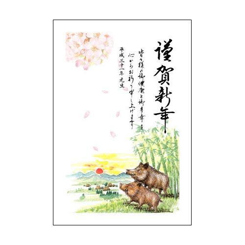 亥年お年玉付年賀はがき同一デザイン10枚入りセレクトカラー/2019_ARP10-03/