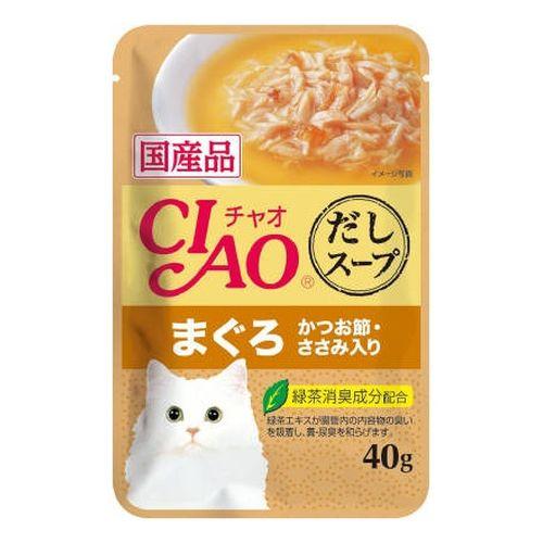 チャオ だしスープ まぐろ かつお節・ささみ入り 40g
