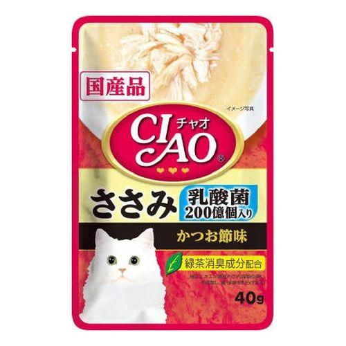 チャオ パウチ 乳酸菌入り ささみ かつお節味 40g