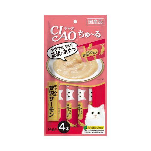 チャオ ちゅ〜る まぐろ&贅沢サーモン 14gx4本 製品画像