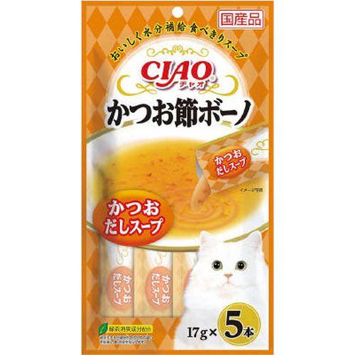 チャオ かつお節ボーノ かつおだしスープ 17gx5本