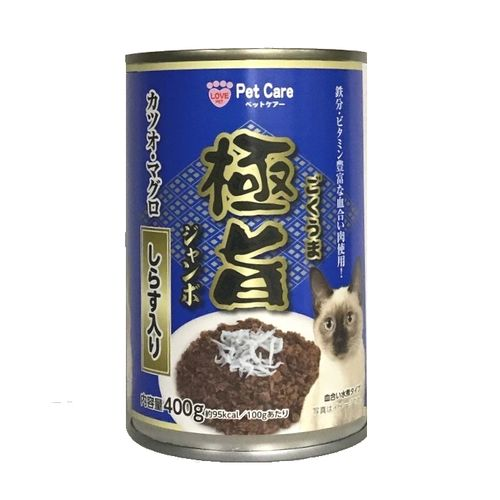 極旨ジャンボ缶/かつお・まぐろしらす入り 400g
