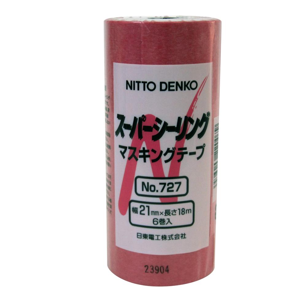 ニトムズ スーパーシーリングマスキングテープ6P/No.727 21mmx18m