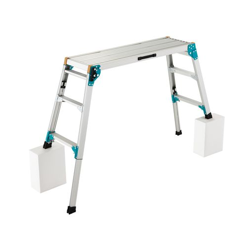 アルミ合金 作業足場台 脚部伸縮式 3段 96cm DRS2.0-1000 1台 (直送品)