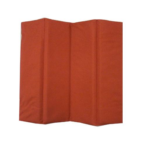 FOLDINGMAT 折り畳めてコンパクト携帯座布団カラー 32x32x1cm レッド