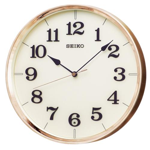 ナチュラルスタイル アナログ電波掛け時計 ブロンズ KX221G
