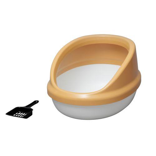 ネコのトイレ ハーフカバー P-NE-500-H [三毛]