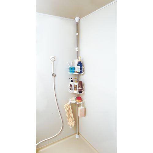 浴室 突っ張り ラック 伸縮 高さ190~250cm BLT-25