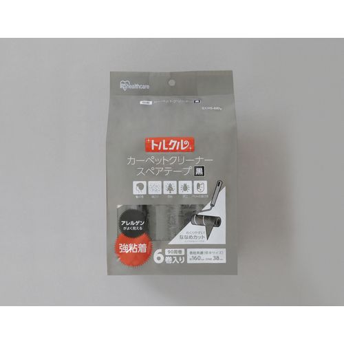 トルクル カーペットクリーナースペアテープ強粘着6巻入り ななめカット CCHS-6RN [ブラック]