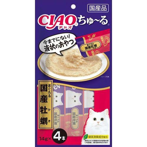チャオ ちゅ〜る まぐろ&国産牡蠣 14gx4本 製品画像