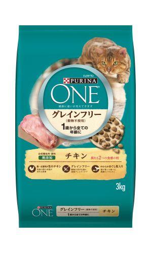 ピュリナ ワン 1歳から全ての年齢に グレインフリー(穀物不使用) チキン 3kg