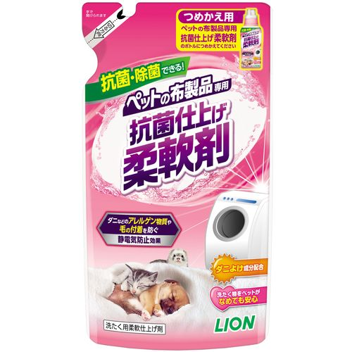 ペットの布製品専用 抗菌仕上げ 柔軟剤 つめかえ用 300g