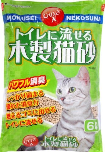 トイレに流せる木製猫砂 6L