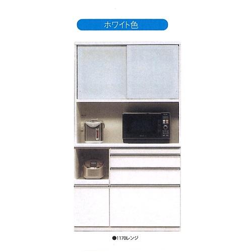 松田家具 120センチ幅キッチンボードクラッチWH