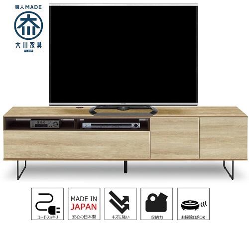 モビレックス 国産品180幅テレビボード完成品NA色古木風 モク