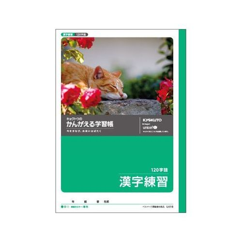 日本ノート かんがえる学習帳 漢字練習 120字 B5 L416 6冊 キョクトウ アピカ [1510]