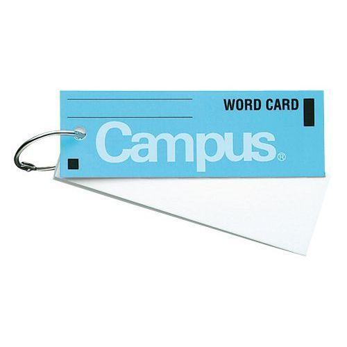 単語カード大長 カードリングとじ50枚 青×10