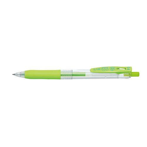 【クリックで詳細表示】ゼブラ水性ボールペン サラサクリップ 0.4mm ライトグリーン P-JJS15-LG
