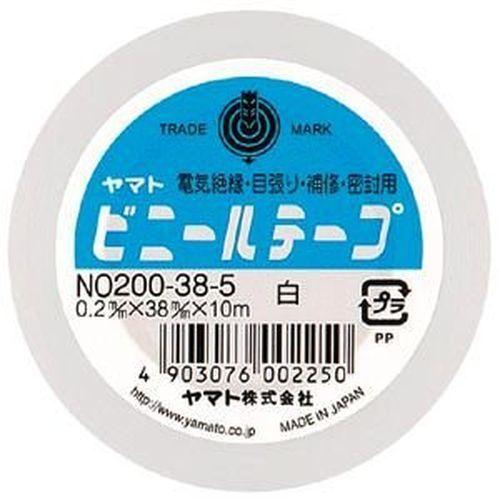 ビニールテープ NO200 38mm×10m 白 NO200-38-5 1セット3巻)