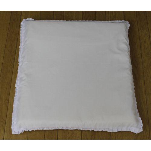 メリーナイト 銘仙判座布団カバー白 55x59cm ホワイト