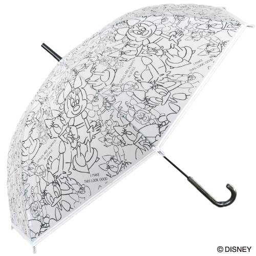 セキザワ sekizawa ビニール傘 Disney ブラック ミニー&デイジー BK
