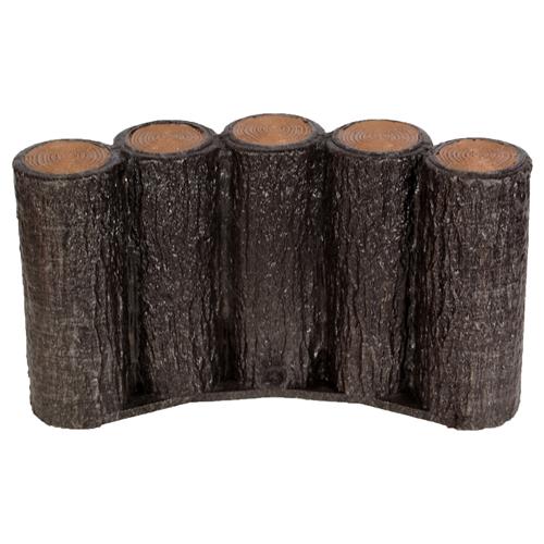 サンポリ まとめ販売 プラ擬木はなえ80 5連平行 H200 5個セット