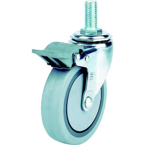 SAMSONGCASTER SAMSONG 静音エラストマーキャスター自在SP付100mm TP374025MIRTGSWB