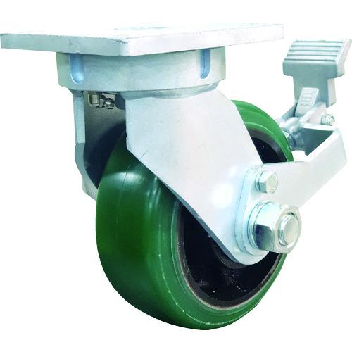 SAMSONGCASTER SAMSONG 鍛造型重荷重耐熱ウレタン車自在ストッパー付キャスター TP736001PCIWBPSL